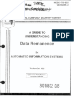 NCSC-TG-025 a Guide to Understanding Data Remanence in Trusted Systems