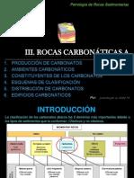 3. ROCAS CARBONÁTICAS A