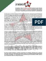 Declaración frente al documento de la FEUC