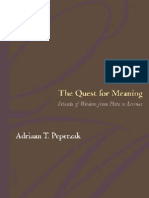 Adriaan Theodoor Peperzak the Quest for Meaning Friends of Wisdom From Plato to Levinas 2003