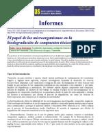 papel de los microorganismos en biorremediación