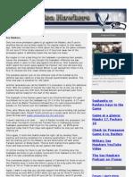 Military Sea Hawkers Newsletter Preseason Week 4