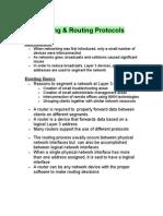Routing&Routing Protocols