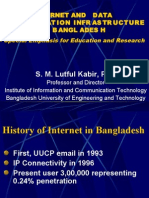 Internet and Data Comunication Infrustructure in Bangladesh