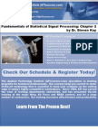 Fundamentals of Statistical Signal Processing by Dr Steven Kay