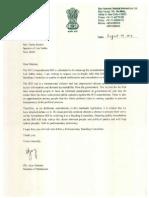 Shri Ajoy Kumar's Letter to Speaker