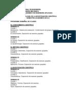 PROGRAMACIÓN SEMANAL DE LAS CLASES 2013-2