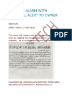 DOOR OPEN ALARM-BURGLAR ALARM SYSTEM WITH SMS&CALL ALERT POLICE&HOUSE OWNER