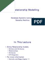 Entity/Relationship Modelling