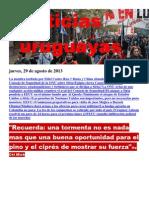 Noticias Uruguayas miércoles 29 de agosto del 2013