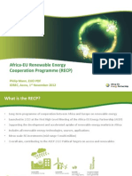 Africa-EU Renewable Energy Cooperation Programme (RECP)
