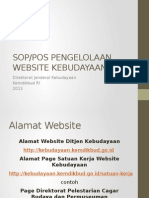 Pengelolaan Website Kebudayaan