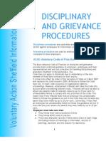 Disciplinary Grievance Procedures