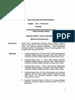 PerMenHub No.8 Tahun 2012 Tentang Penyelenggaraan Dan Pengusahaan Angkutan Multimoda