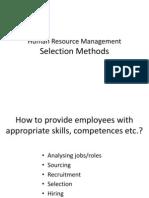 Selection Methods II