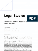 Tax Evasion and the Proceeds of Crime Act 2002