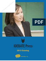 IDEBATE Press Catalog 2012
