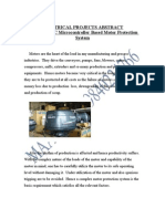 ELECTRICAL PROJECT TOPICS&Embedded PIC Microcontroller Based Motor Protection System