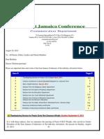 Communication Advisory for August 31-2013