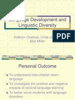 Language Development and Linguistic Diversity Power Point