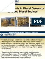 Advancements In Diesel Generator Sets And Diesel Engines