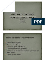Party Management- Wwi Film Festival