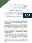 Presentación FLVR 2013 - Gacetilla Abrazos de agua transmedia