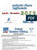 Calendario Gare Estive 2013