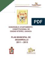Plan de Desarrollo de Ixtepec