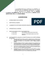 065 29 Agosto 2013 Agenda