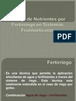 Fertirrigacion FRUTI