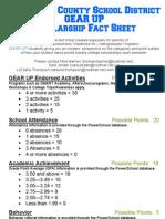 gu scholarship point breakdown revised 1-20-2012