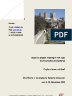 Business English Training in York (GB) Communication Competence