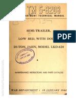 TM 5-9208 SEMI-TRAILER JAHN LKD 620