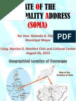 State of the Municipality Address by Mayor Rolando B. Distura 2013, Dumangas, Iloilo