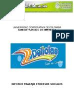 Procesos Sociales (Analisis Del Clima Organizacional de La Empresa Las Delicias)