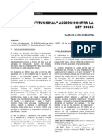 La Inconstitucional Accion Contra La Ley 29625 - RCR