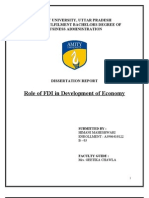 Finance - FDI - Role of FDI in Development of Economy 2
