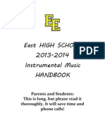 East High School Instrumental Music Handbook 2013-14