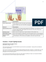 1. Touch Typing Course 1 2 Outlines