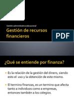 Gestión de recursos financieros