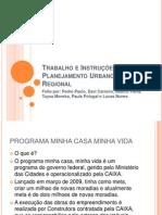 Trabalho e Instruções do Planejamento Urbano e Regional