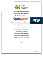 Lovely Professional University Final Report