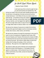 Uganda Field Declaration