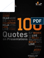 eBook 100 Quotes on Presentation