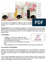 Les Essences d'Amelie Brochure