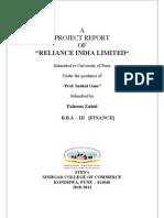 Report of RIL