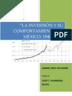 La inversión y su comportamiento en México 1940-2009