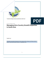'Managing Intra-Country Growth Disparities in South Asia' - 6th SAES Theme Paper by SDPI (Islamabad, Pakistan)
