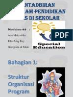 Pentadbiran Program Pendidikan Khas Di Sekolah